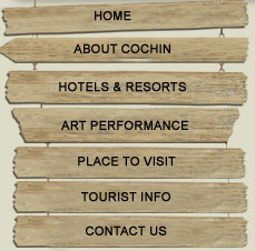 buttons,home,about cochin,hotels and resorts,art perfomance,place to visit,tourist info,contact us,button image,button picture